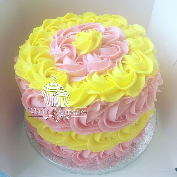 Pink And Yellow Cake Smash Cake