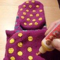 Des Chaussettes Antidérapantes DIY pour ses Enfants.