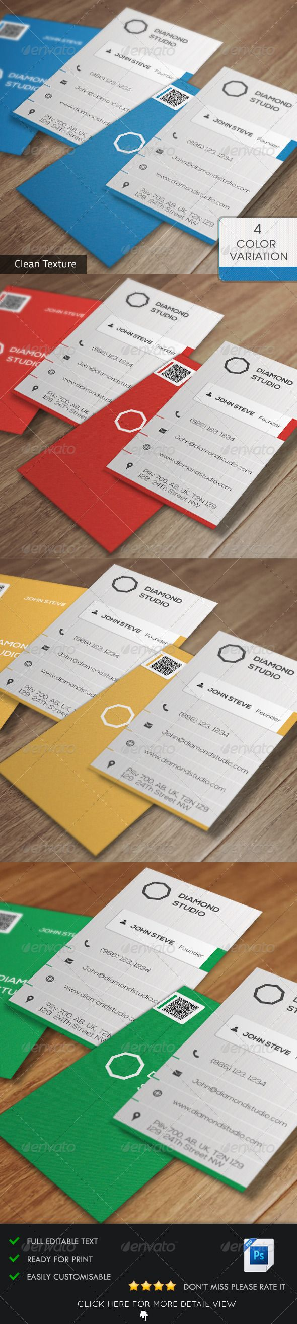Business card printing free templates from nextdayflyers - Corporate Business Card V6