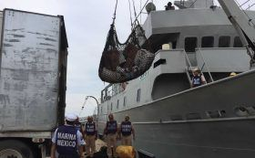"Arriba Buque ""Zapoteco"" con 112 toneladas de víveres en Salina Cruz"