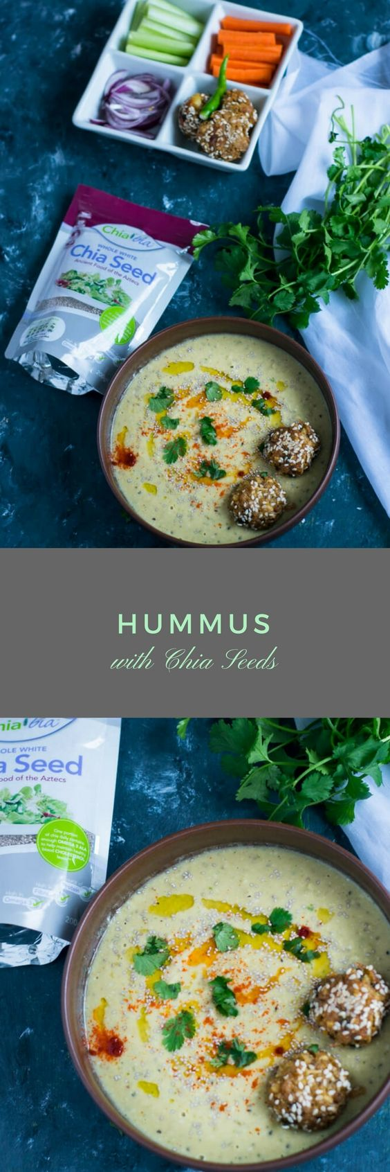 Hummus with Chia Seeds-A healthy variation of classic Hummus