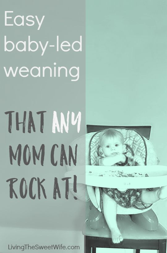 Easy baby led weaning that any mom can rock at!