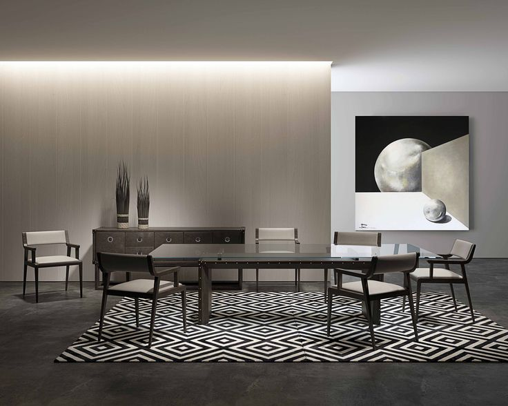 Awesome Dining Rooms From Hulsta: The Compass Modern Dining Room Table Uses Leather And A