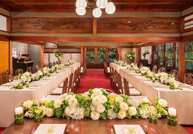 結婚式場写真「鳳凰の間:大正ロマン漂う和モダンの空間(40〜76名) 」 【みんなのウェディング】