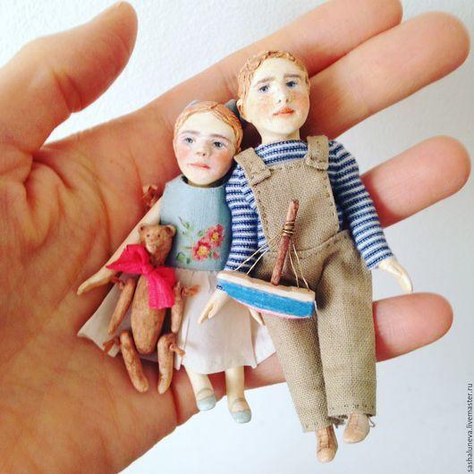 Кукольный дом ручной работы. Миниатюрная кукла для кукольного домика. Саша Лунёва (sashaluneva). Интернет-магазин Ярмарка Мастеров. Кукла