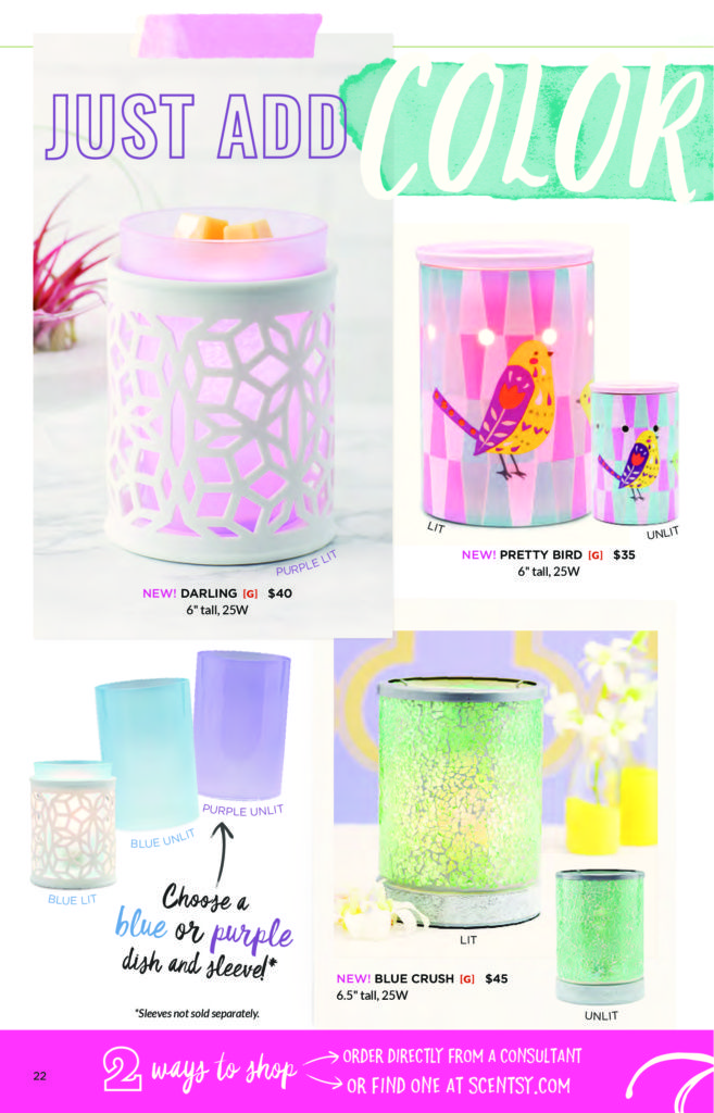 SCENTSY SPRING SUMMER 2017 WARMERS