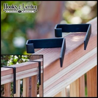 Railing brackets: what I need for window boxes, since I'm renting