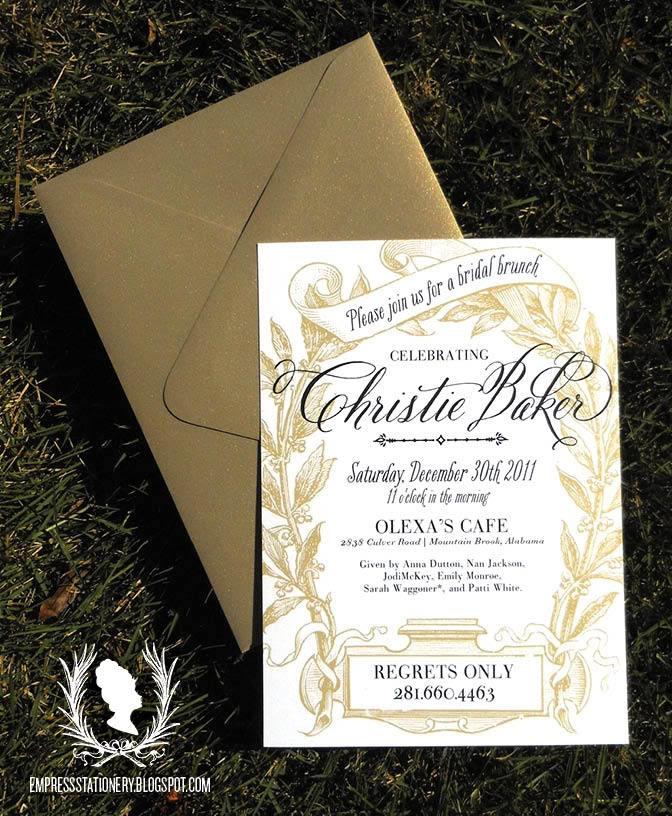 blank beach bridal shower invitations%0A Wreath  u     Banner Bridal Shower Invitation