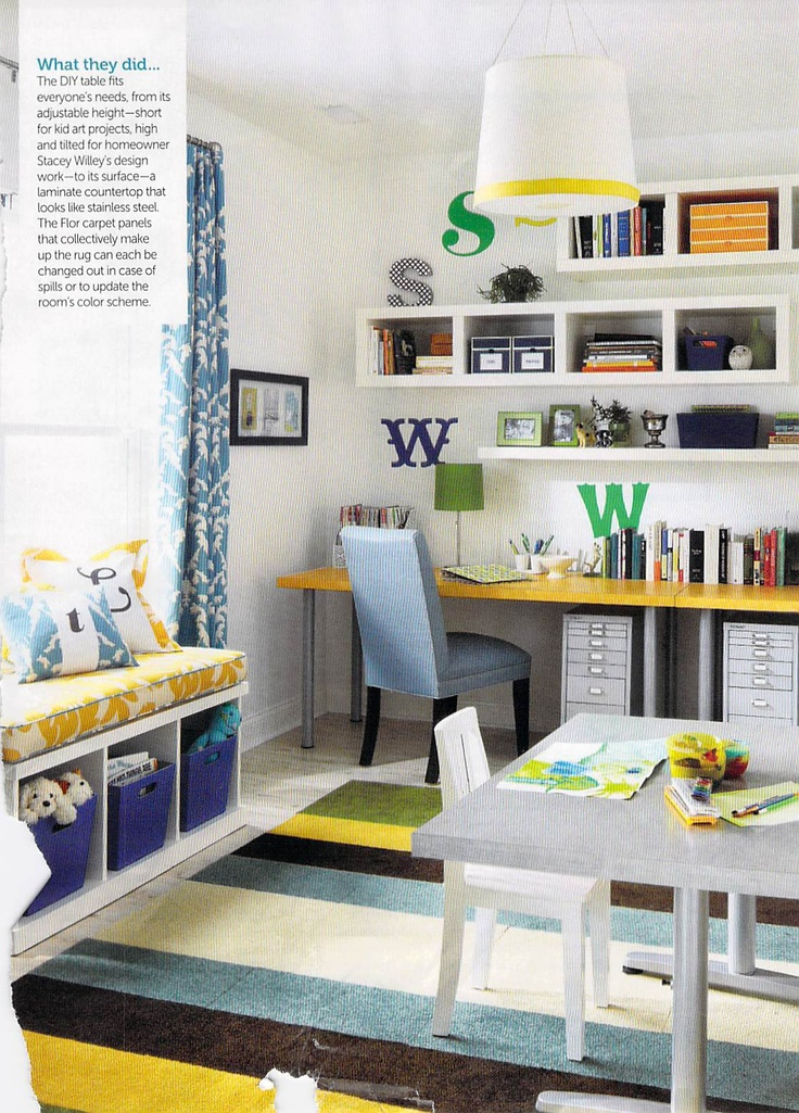 59 best images about homeschool room ideas on pinterest for Home office playroom design ideas