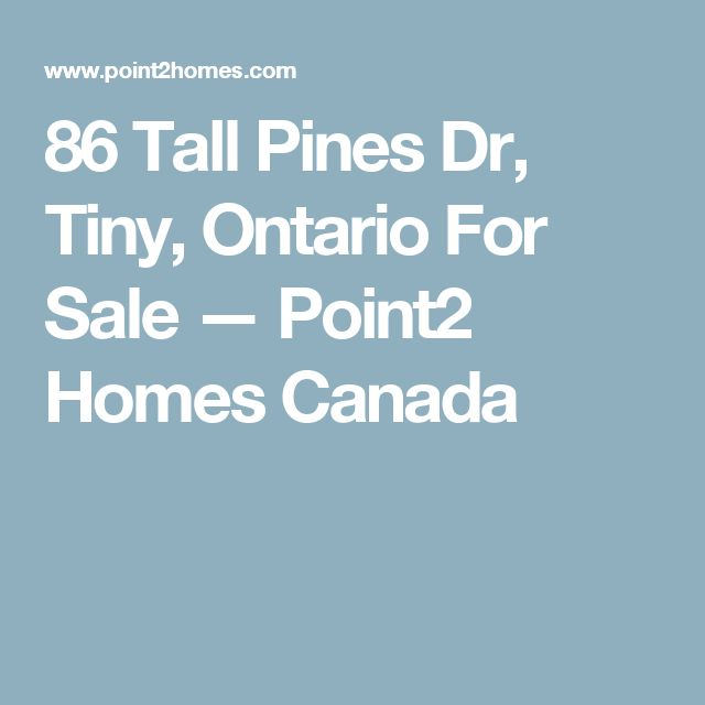 86 Tall Pines Dr, Tiny, Ontario For Sale — Point2 Homes Canada