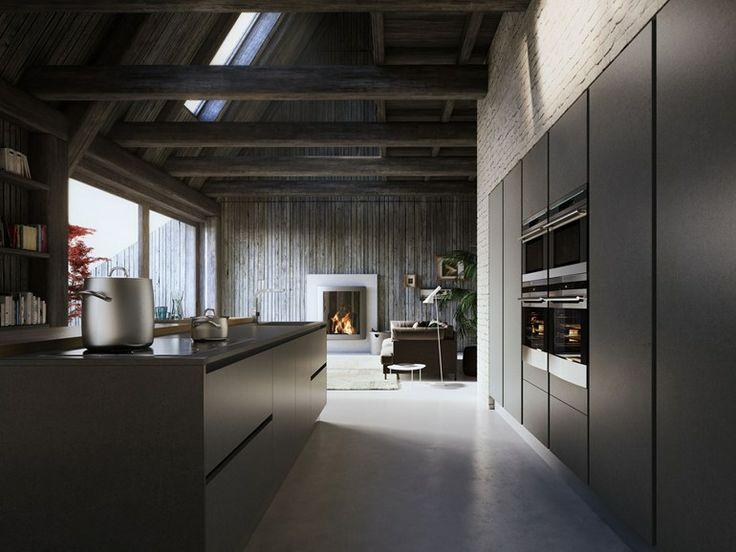 Cucine Componibili ged cucine componibili : Cucina laccata in legno impiallacciato con isola VELVET PROFILE C ...