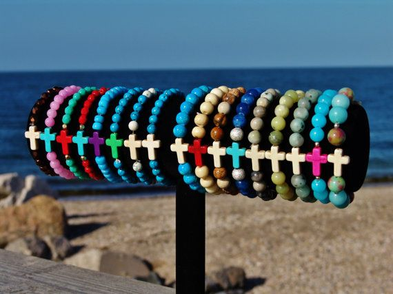 Cross bracelets, Cross beaded Bracelets, Colorful bracelet, sideways cross bracelet
