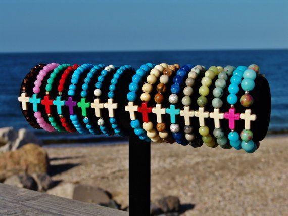Cross bracelets, Cross beaded Bracelets, Colorful bracelet, sideways cross bracelet
