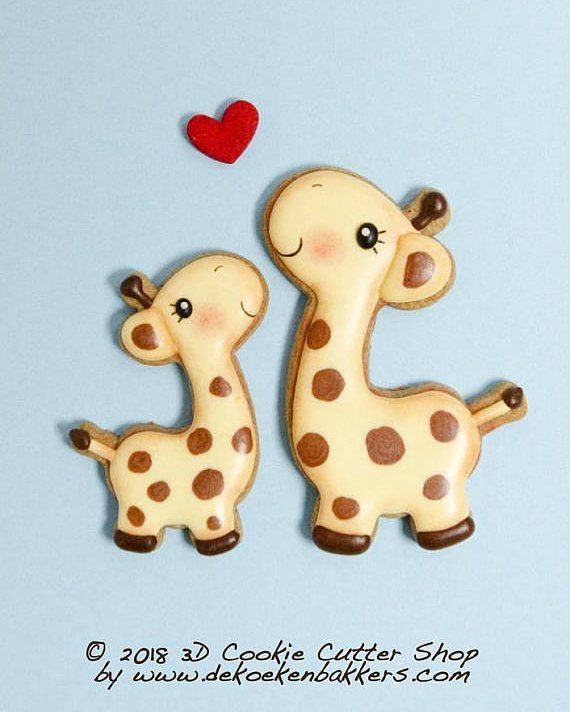 "542 Likes, 9 Comments - Mariëlle de Vroome (@dekoekenbakkers) on Instagram: ""Our new Giraffe cutter: perfect for Valentine's day (I long for you...) ánd also cute for Baby…"""
