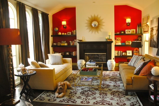 """Kellie's """"Bright & Beachy"""" Room Room for Color Contest. Realy starting to like red! Curtains, maybe?"""