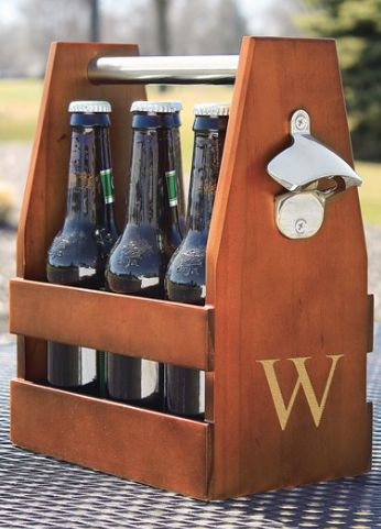Handsome Wooden Personalized Craft Beer Holder http://rstyle.me/n/ts6m2bh9c7