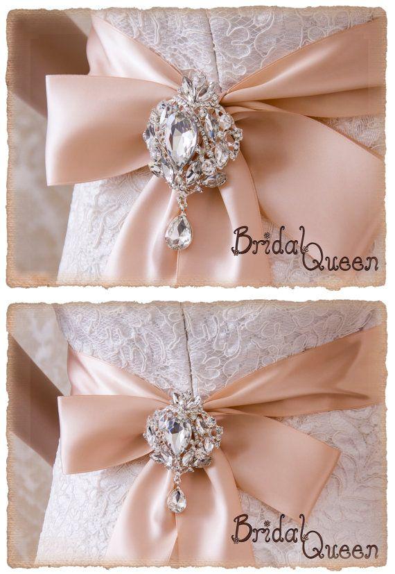 Gran broche de cristal de novia marco marco nupcial broche