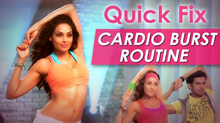 Quick Fix Cardio Burst Routine - Fat Burning Exercise - Bipasha Basu Lov...