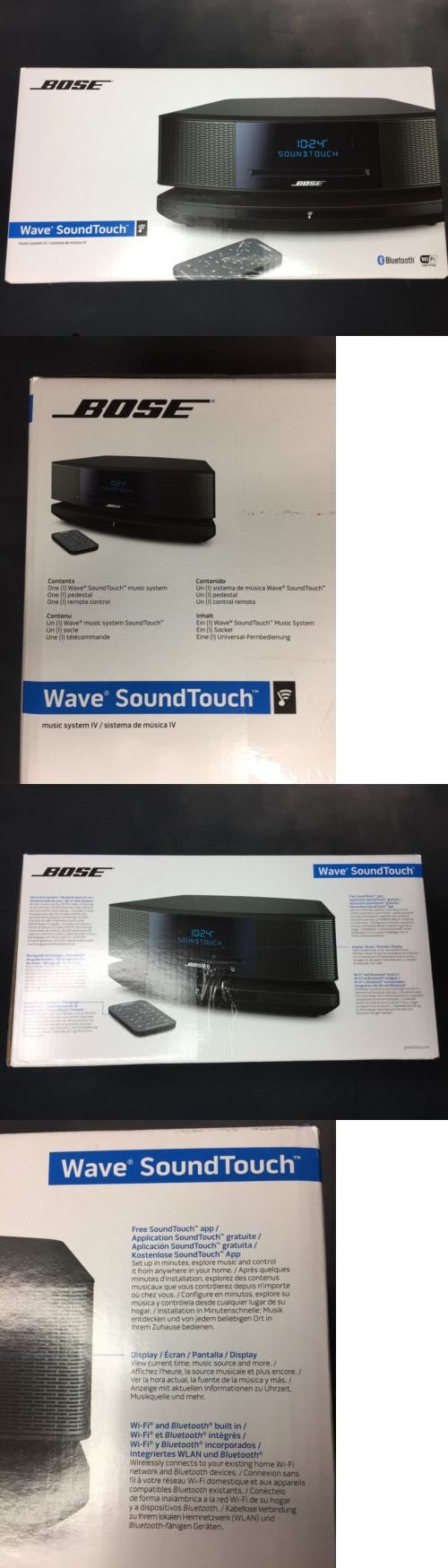 Compact and Shelf Stereos: Bose Wave Soundtouch Music System Iv Remote, Cd Player And Radio- Espresso Black BUY IT NOW ONLY: $550.0