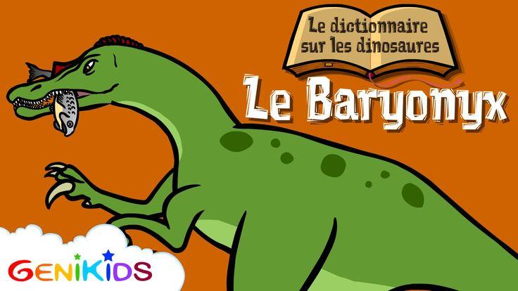 Film: Le Baryonyx - Le Dictionnaire sur les dinosaures - Dessin animé éducatif Genikids