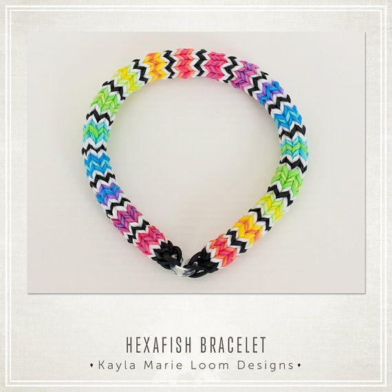 Hexafish Rainbow Loom Bracelet Party by KaylaMarieLoomDesign