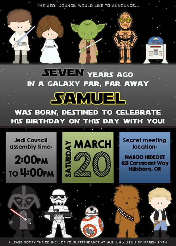 Unique Aniversario Star Wars Ideas On Pinterest Temas De - Star wars birthday invitation diy