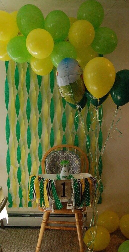 John Deere tractor theme birthday party decoration