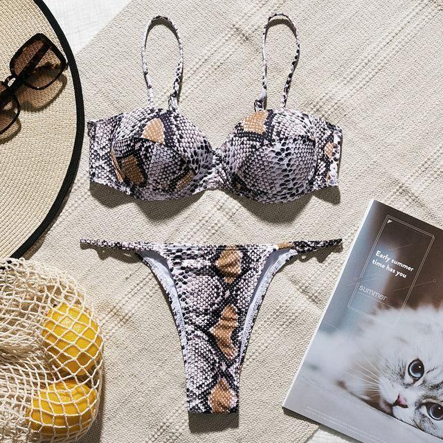 In-X Sexy Leopard one piece swimsuit One shoulder bikini 2019 High cut swimwear women monokini Padded bathing suit New bodysuit 1