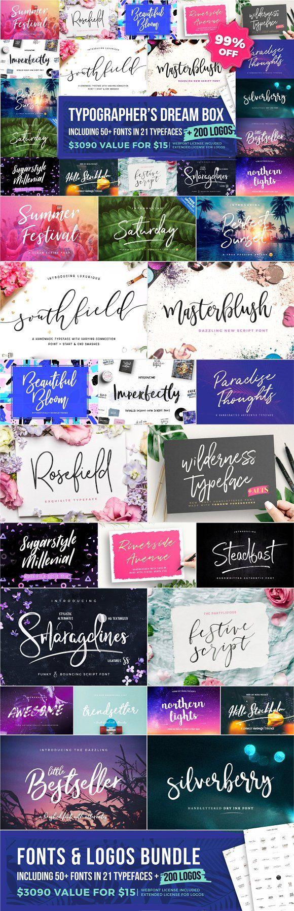 Typographer's Dream Box + 200 Logos by Mats-Peter Forss on @creativemarket