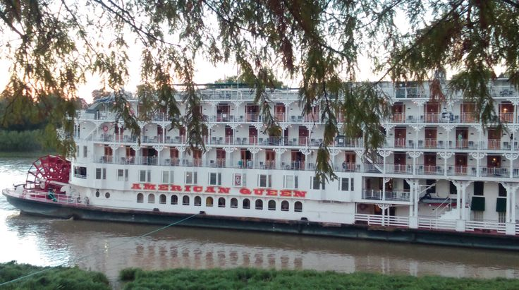The luxurious American Queen docked at the waterfront at Vicksburg, MS, on November 10th while her passengers toured our historical civil war town.