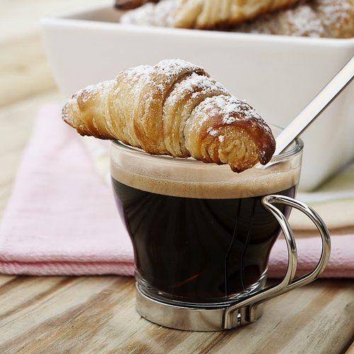 Coffee & Croissant Breakfast.. nom!