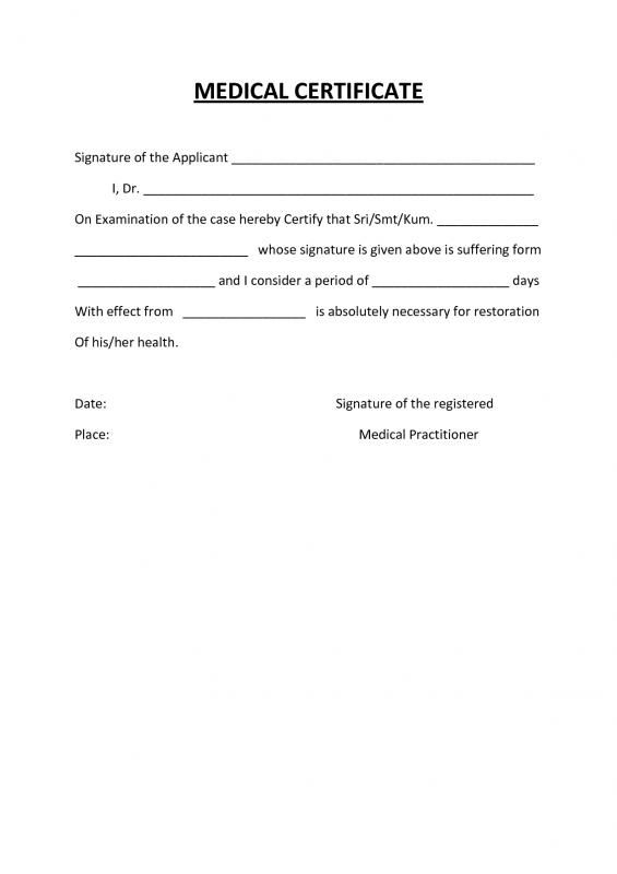 Medical Certification Form | template in 2019 | Doctors ...