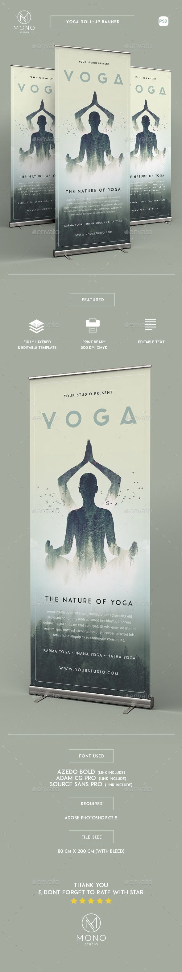 PSD Yoga Roll-up Banner Template • Only available here ➝ http://graphicriver.net/item/yoga-rollup-banner/16382639?ref=pxcr