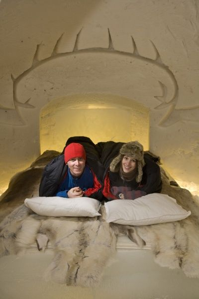 Sleep well in Arctic SnowHotel Rovaniemi in Lapland Finland