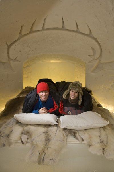 Sleep well in Arctic SnowHotel Rovaniemi in Lapland Finland