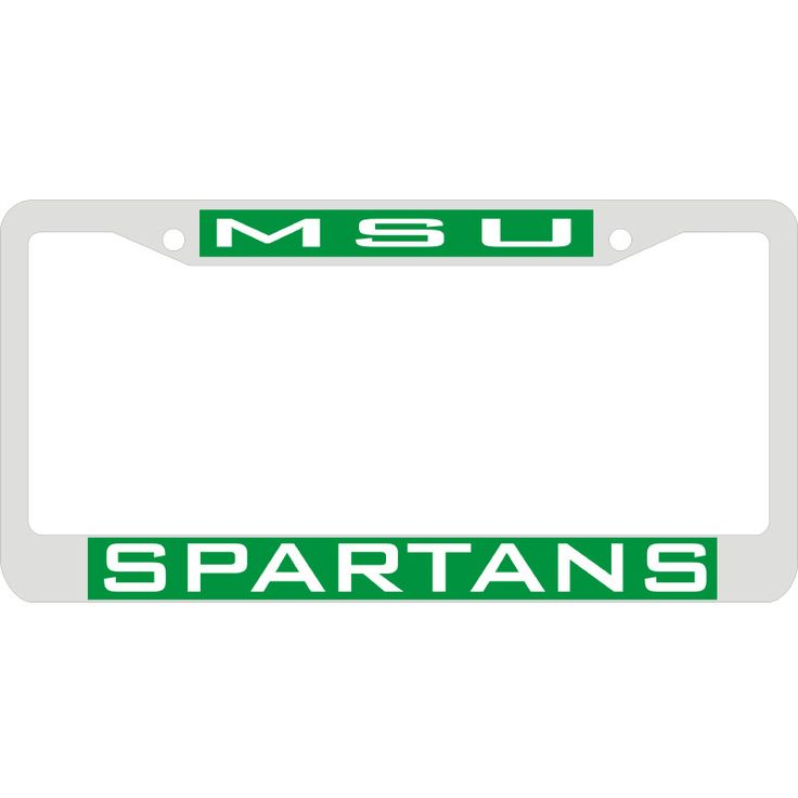 Msu Spartans Metal License Plate Frame | Spartan Bookstore