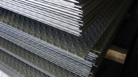 HB Steel specializes in just in time delivery of Galvanized Sheet Metal, Galvanized Tread Plate, and diamond plate in standard sizes. Diamond plates are often used where pedestrian traffic requires a solid non-slip surface.