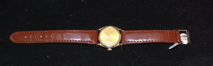 1962 Rolex 6548 Midsize Oyster Perpetual Watch 14K Gold 26J 31mm Tropical Dial #Rolex #watch #wristwatch #oyster #perpetual