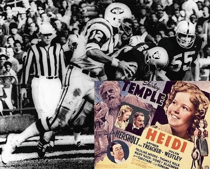 "1968 - NBC cut away from the final minutes of a New York Jets-Oakland Raiders game to begin a TV special ""Heidi"" on schedule. The Raiders came from behind to beat the Jets 43-32 scoring twice in the final 42 seconds of the game. How quickly would you cancel cable if this happened to you? #TodayInHistory #NYJets #OaklandRaiders #NFL"