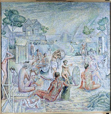 ΝΙΚΟΣ ΧΑΤΖΗΚΥΡΙΑΚΟΣ-ΓΚΙΚΑΣ Η θάλασσα του πρωινού (1946), λάδι σε καμβά, 140 x 140 εκ. Ιδιωτική συλλογή, Αθήνα