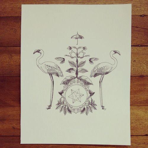 "De la serie"" Original Vs Copia: "" Flamingos "" #drawing #flamingo #art #Himallineishon"