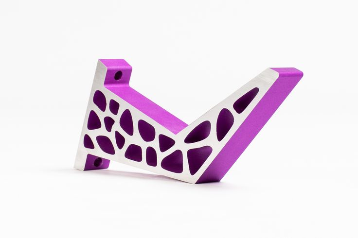 GiraTable leg in purple and silver. Craft-Modern.com