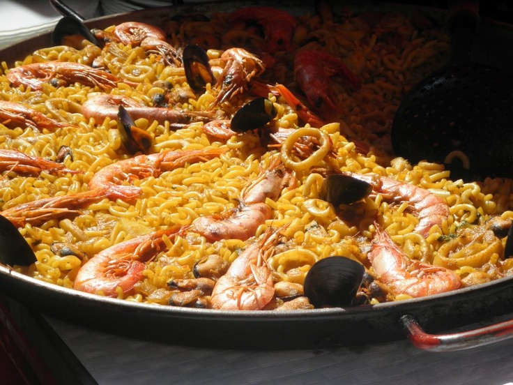 Paella at the Las Fallas festival