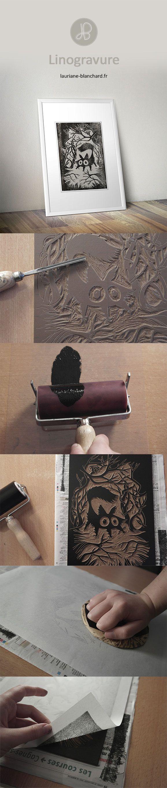 dit is een Linogravure