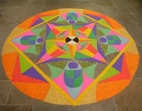 #DesiIs the colorful rangoli outside your home!