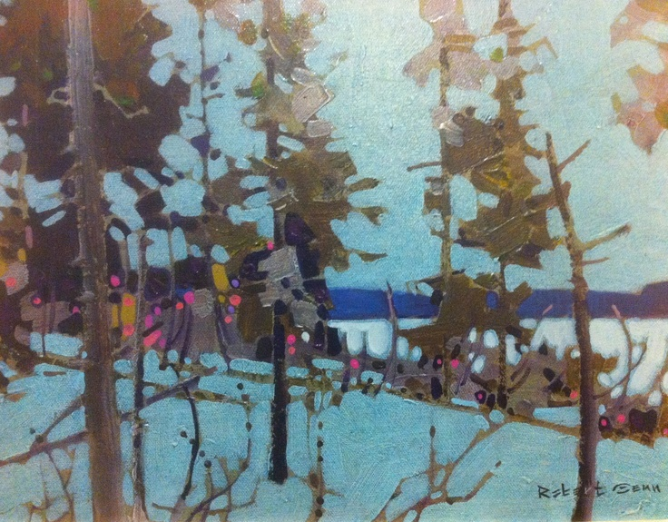 """Sombre Edge Saturna"" Happy owner of this lovely painting by Canadian Painter, Robert Genn."