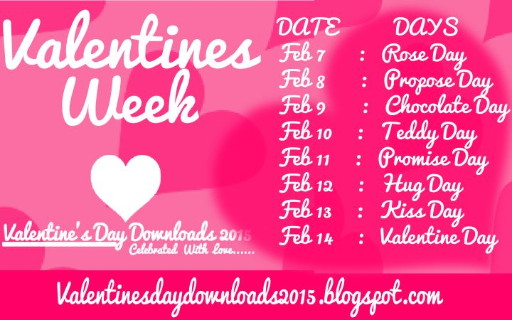 Happy Valentine Week List 2015 schedule with Date and Time | HAPPY ...
