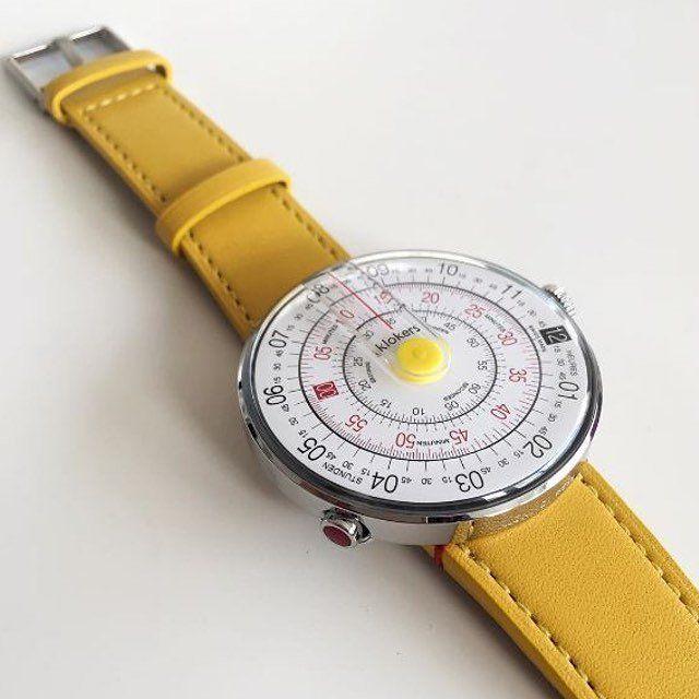 Klokers KLOK-01 Yellow/ Yellow Leather Strap #Fashionable, #Stylish, #Watch