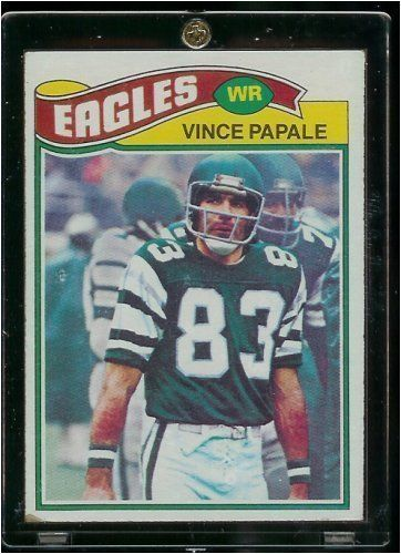 1977 Topps Vince Papale Philadelphia Eagles Rookie Card - Invincible Movie, just watched it last night