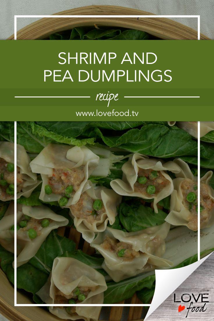 Shrimp and Pea Dumplings